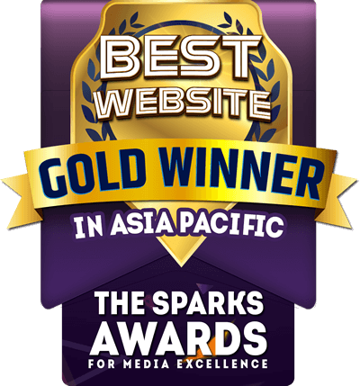 The Sparks Awards - Gold Winner Best Website in Asia Pacific
